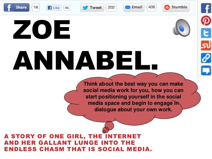 ZOE  ANNABEL.                  Think about the best way you can make                  social media work for you, how you c...