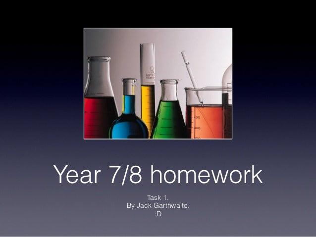 Year 7/8 homework           Task 1.      By Jack Garthwaite.             :D