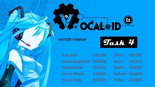 Proundly presents                         Task 4  Alex Soh           032184   Fahmi     032799  Lailatulkadariah   033059 ...