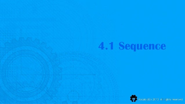 4.1 Sequence