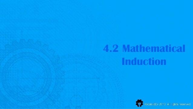 4.2 Mathematical    Induction