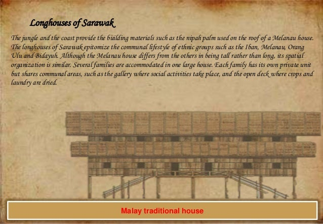 Longhouses of Sarawak The jungle and the coast provide the building materials such as the nipah palm used on the roof of a...