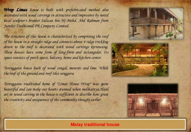 Wrap Limas house is built with prefabricated method also decorated with wood carvings in attractive and impressive by note...