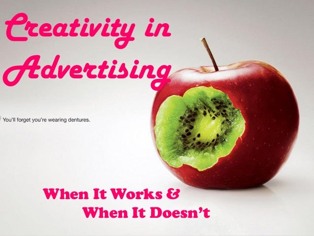 "role of creativity in advertisements and Advertising creativity: the role of  "" practitioner and customer views of advertising creativity,"" journal of advertising  these advertisements were."