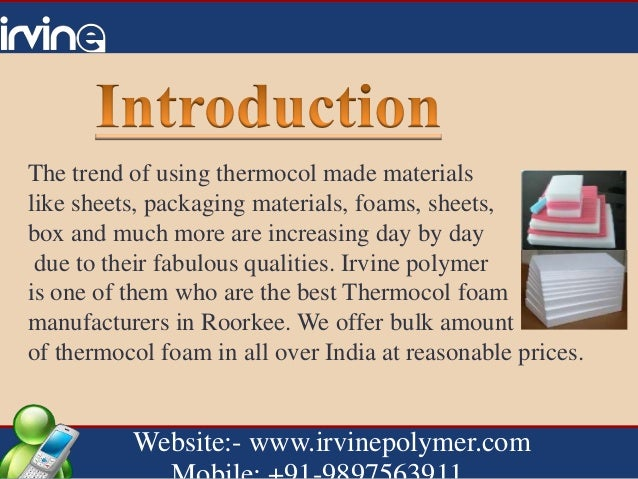Trustable and affordable of thermocol foam manufacturers in Uttaranch…