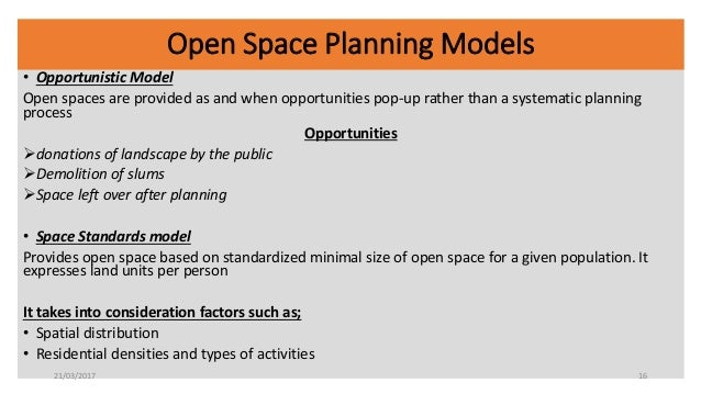 Sustainable Policies For Public Open Spaces