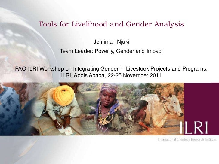 Tools for Livelihood and Gender Analysis                              Jemimah Njuki                 Team Leader: Poverty, ...