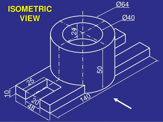 ISOMETRIC VIEW Ø40 Ø64 24 50