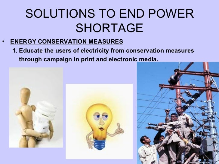 essay on power crisis and its solution Free essay: causes and solutions to our ecological crisis the ecological crisis is a long term threat to the earth's well being throughout traditional.