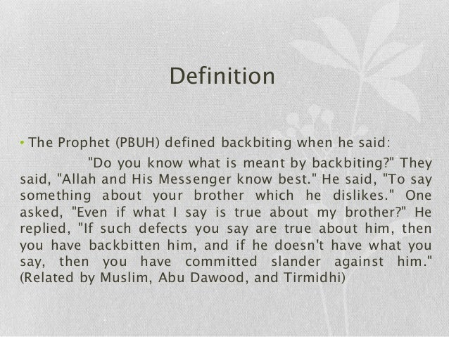 Backbiting In Islam Essay Prompts - image 2