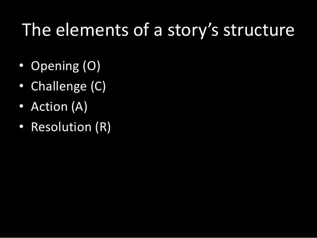 Story structure Slide 3