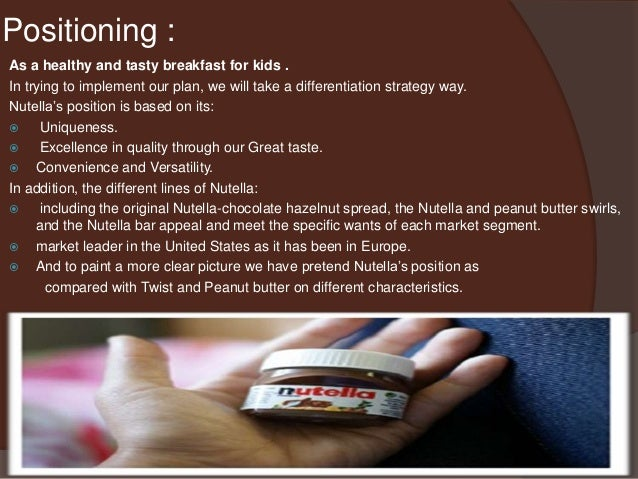 nutella marketing plan