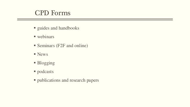 Other CPD Forms