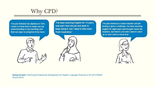 Why CPD? Going forward: Continuing Professional Development for English Language Teachers in the UK © British Council 2012
