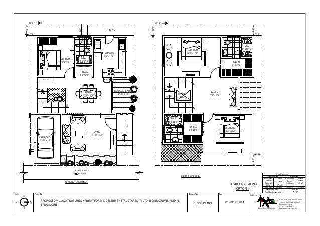 13 - 34 X 60 House Plans