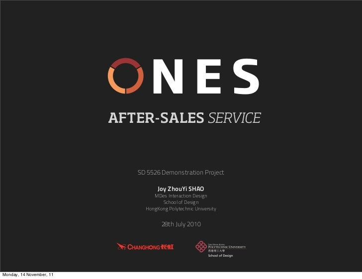 NES                          AFTER-SALES SERVICE                             SD 5526 Demonstration Project                ...