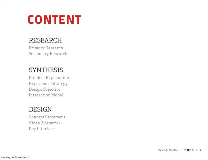 CONTENT                     RESEARCH                     Primary Research                     Secondary Research          ...