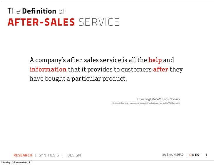 The Definition of    AFTER-SALES SERVICE                     A company's a er-sales service is all the help and           ...
