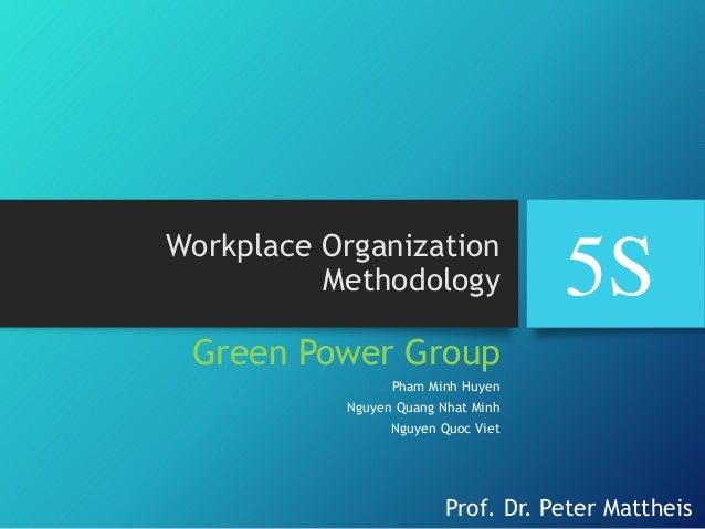 Presentation 5 S workplace organization methodology Slide 1