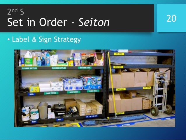 2nd S Set in Order - Seiton • Label & Sign Strategy 20