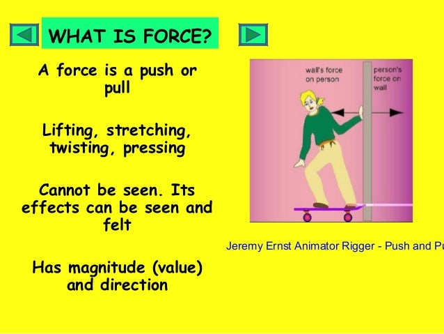 Force Year 5 on Push And Pull Worksheets