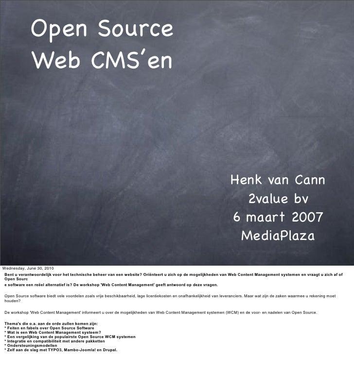 Open Source               Web CMS'en                                                                                      ...