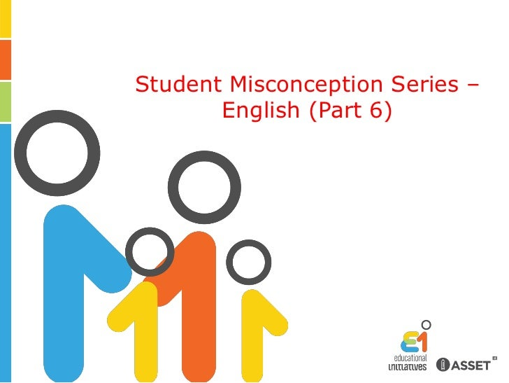 Student Misconception Series – English (Part 6)<br />
