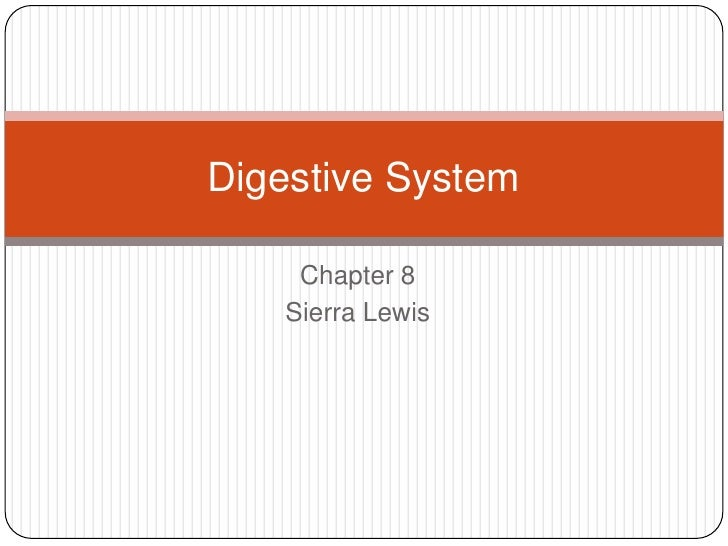Digestive System    Chapter 8   Sierra Lewis