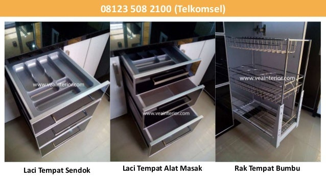 081235082100 kitchen set minimalis dapur kitchen set for Harga kitchen set stainless steel