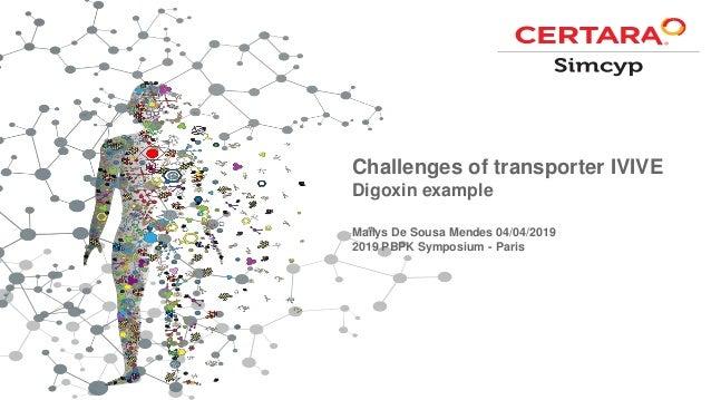 Challenges of transporter IVIVE Digoxin example Maïlys De Sousa Mendes 04/04/2019 2019 PBPK Symposium - Paris