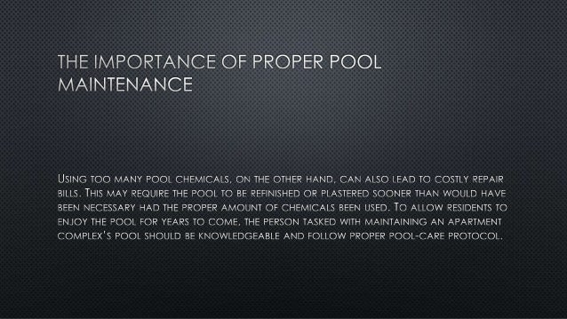 The Importance of Proper Pool Maintenance