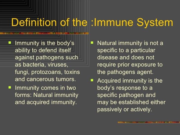 A description of the immune system as a group of cells molecules and tissues