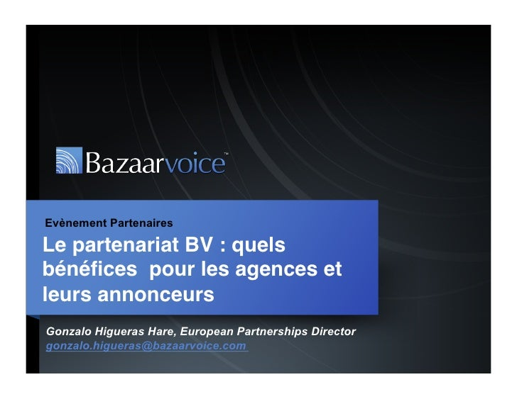 Partenariat bazaarvoice : Quels bénéfices pour les agences ?