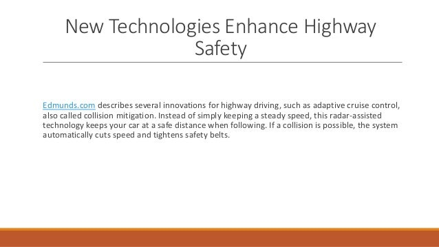 New Technologies Enhance Highway Safety