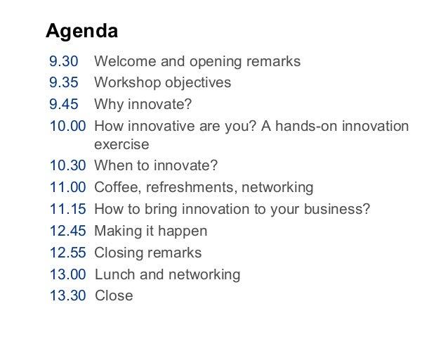 Innovation Workshop Slide 2