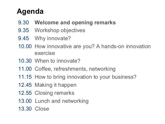 Innovation Workshop Slide 3