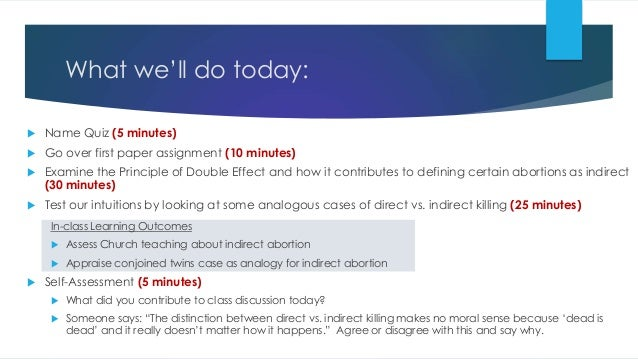 What we'll do today:  Name Quiz (5 minutes)  Go over first paper assignment (10 minutes)  Examine the Principle of Doub...