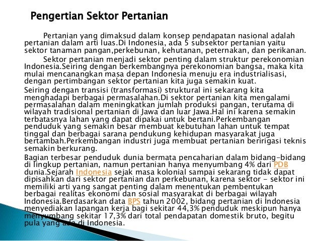 Presentation8 Peranan Sektor Pertanian