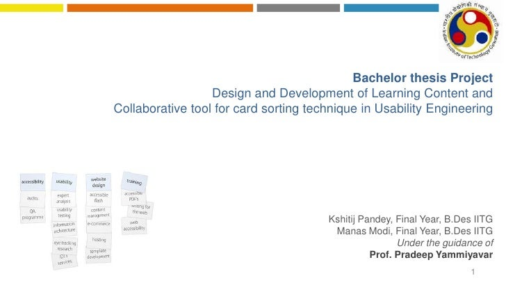 Bachelor thesis Project                  Design and Development of Learning Content andCollaborative tool for card sorting...