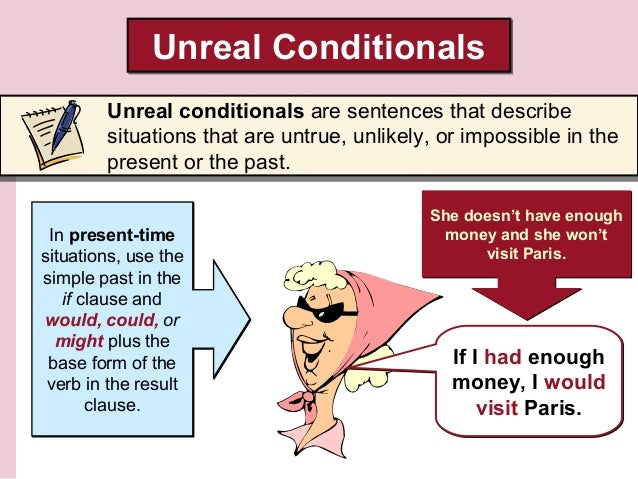 unreal conditional If i study conditionals, i will speak better english that's the first conditional - find clear explanations and lots of practice exercises here.
