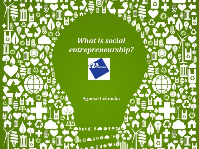 What is socialentrepreneurship?   Agnese Lešinska