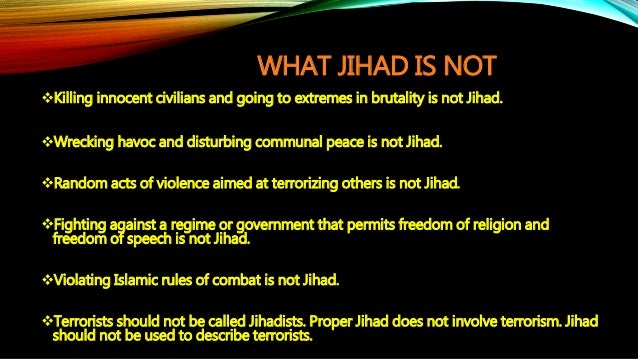 Articles On Jihad
