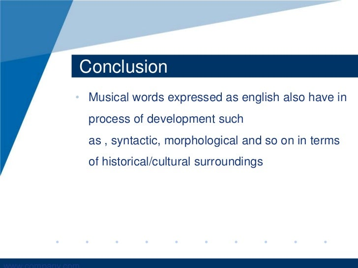 presentation about music