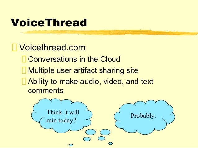 VoiceThread  Conversations in the cloud