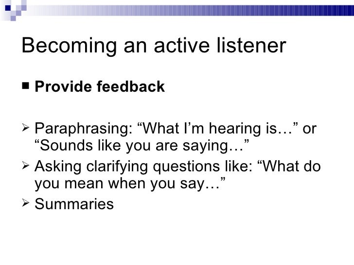 Presentation Active Listening – Active Listening Skills Worksheets