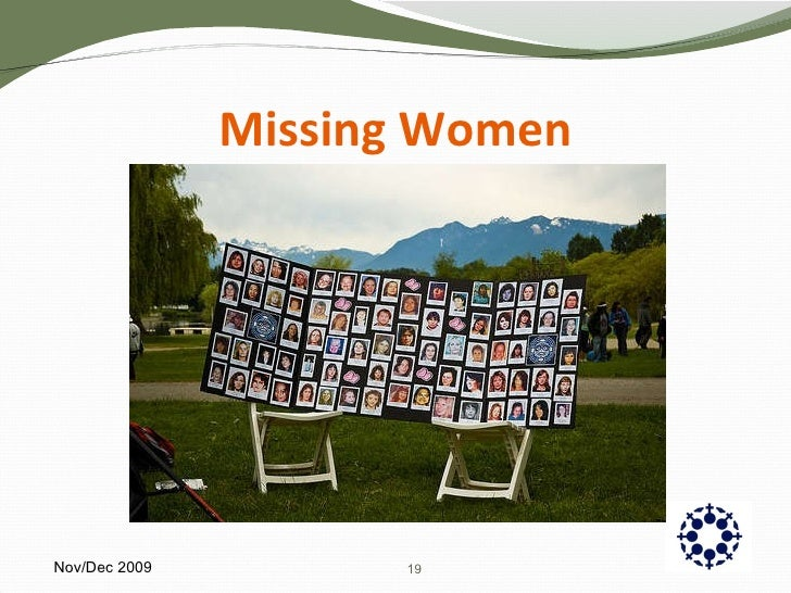 Missing Women Nov/Dec 2009