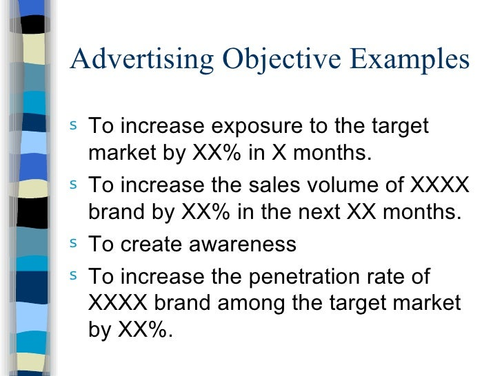 advertising objective examples
