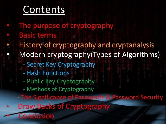 why cryptography is important computer science essay Page | 2 abstract research question as a computer science hl student, i learned about the importance of digital security as we studied various methods of encryption i understood the importance of strong encryption in this modern age.