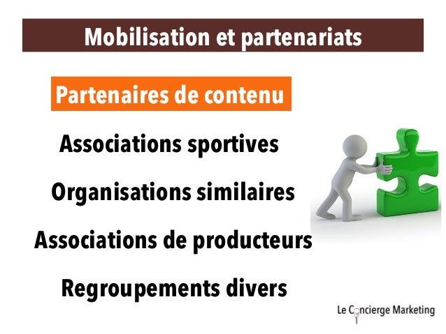 Mobilisation et partenariats Partenaires de contenu Organisations similaires Associations de producteurs Associations spor...