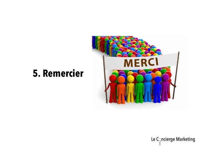 5. Remercier